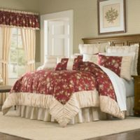 Mary Jane's Home Sunset Serenade Queen Comforter Set in Red