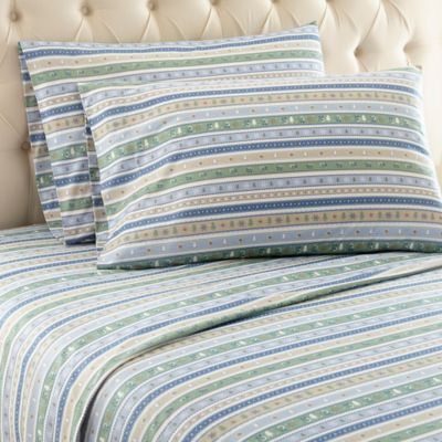 Micro Flannel® Calico Stripe King Sheet Set In Calico Stripe