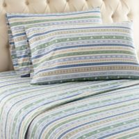 Micro Flannel® Calico Stripe Queen Sheet Set in Calico Stripe