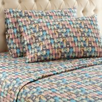 Micro Flannel® Printed Queen Sheet Set in Kool Kats