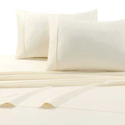 Tribeca Living 600 Thread Count Cotton Deep Pocket Queen Sheet Set In Ivory