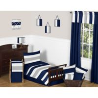 Sweet Jojo Designs Navy and Grey Stripe 5-Piece Toddler Bedding Set