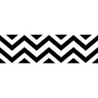 Sweet Jojo Designs Chevron Wallpaper Border in Black and White