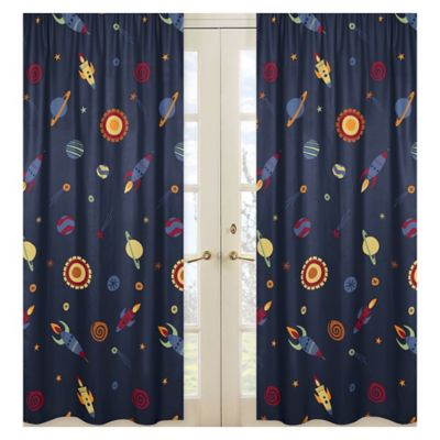 Sweet Jojo Designs Space Galaxy Window Curtain Panel (Set Of 2)