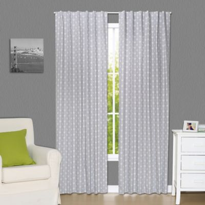 the peanut shell arrows blackout window curtain panel pair in grey