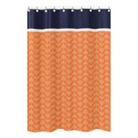 Sweet Jojo Designs Arrow Shower Curtain in Navy/White