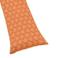 Sweet Jojo Designs Arrow Body Pillowcase in Orange/Navy