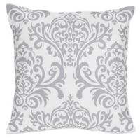 Sweet Jojo Designs Skylar Damask Throw Pillow in Grey (Set of 2)