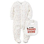 carter's® My First Thanksgiving Newborn 2-Piece Footie and Bib in Ivory