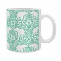DENY Designs Jacqueline Maldonado Elephant Damask Mugs in Green (Set of 2)