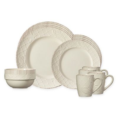 Pfaltzgraff® Northport 16-Piece Dinnerware Set in White  sc 1 st  Bed Bath \u0026 Beyond & Buy Seashell Dinnerware from Bed Bath \u0026 Beyond