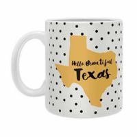 DENY Designs Allyson Johnson Hello Beautiful Ceramic Mugs in Yellow (Set of 2)