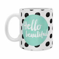 "DENY Designs Allyson Johnson Mint ""Hello Beautiful"" Mugs (Set of 2)"