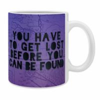 DENY Designs Leah Flores Lost X Found Coffee Mugs in Purple (Set of 2)