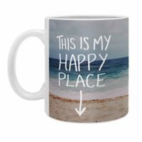 DENY Designs Leah Flores Happy Place X Beach Coffee Mugs in Blue (Set of 2)