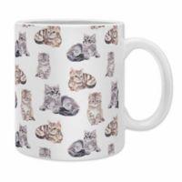 DENY Designs Wonder Forest Smitten Kittens Coffee Mugs in Grey (Set of 2)