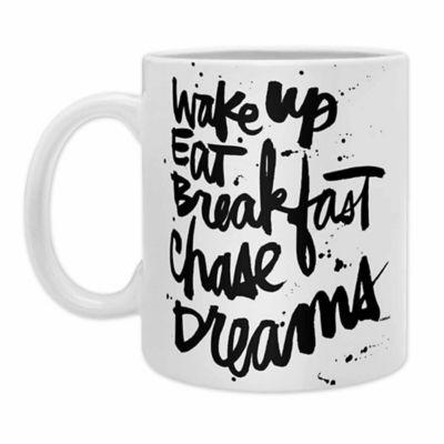 deny designs kal barteski wake up coffee mugs in black set of 2 - Coffee Mug Sets
