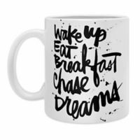 DENY Designs Kal Barteski Wake Up Coffee Mugs in Black (Set of 2)