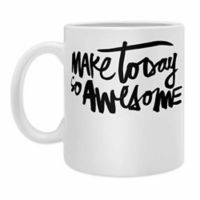 "DENY Designs Kal Barteski ""Make Today So Awesome"" Coffee Mugs in Black (Set of 2)"
