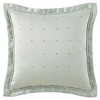 Waterford® Linens Aramis Rhinestone Square Throw Pillow in Aqua