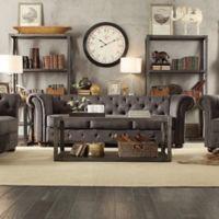 Verona Home Nottingham Chesterfield Sofa in Dark Grey