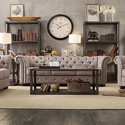 Buy Verona Home Nottingham Chesterfield Sofa In Grey From