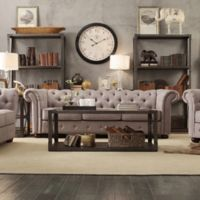 Verona Home Nottingham Chesterfield Sofa in Grey