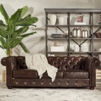 Verona Home Nottingham Chesterfield Sofa in Brown