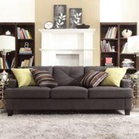 Verona Home Olenick Linen Sofa in Dark Grey