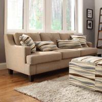 Verona Home Olenick Linen Sofa in Dark Sand