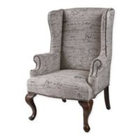 Sterling Industries Marianne Wing Chair in Brown