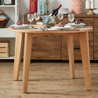 Verona Home Hudson Mid-Century Round Dining Table in Natural