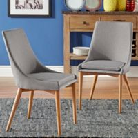 Verona Home Hudson Mid-Century Side Dining Chairs in Grey (Set of 2)