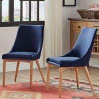 Verona Home Hudson Mid-Century Side Dining Chairs in Cobalt (Set of 2)