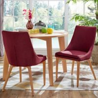 Verona Home Hudson Mid-Century Side Dining Chairs in Maroon (Set of 2)