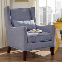 Verona Home Trenton Wingback Arm Chair in Blue