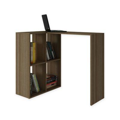Manhattan Comfort Accentuations Pescara Cubby Desk In Oak