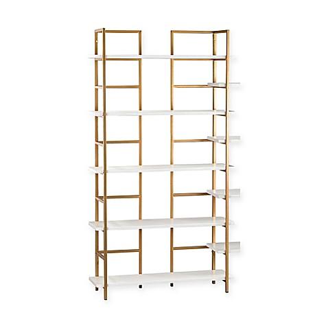 sterling industries metal shelving unit bookcase bed. Black Bedroom Furniture Sets. Home Design Ideas