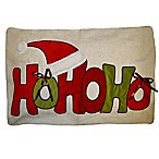 HOHOHO Hat Throw Pillow in Red/Green