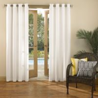 Sun Zero Marlee 95-Inch Grommet Top Indoor/Outdoor Window Curtain Panel in White