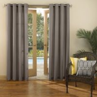 Sun Zero Marlee 84-Inch Grommet Top Indoor/Outdoor Window Curtain Panel in Grey