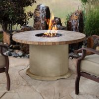 Real Flame® Ogden Round Propane Gas Fire Table in Sand