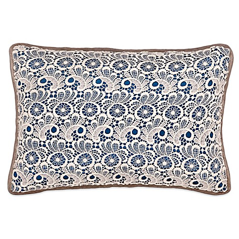 Throw Pillows With Lace : Christy Lace Oblong Throw Pillow - Bed Bath & Beyond
