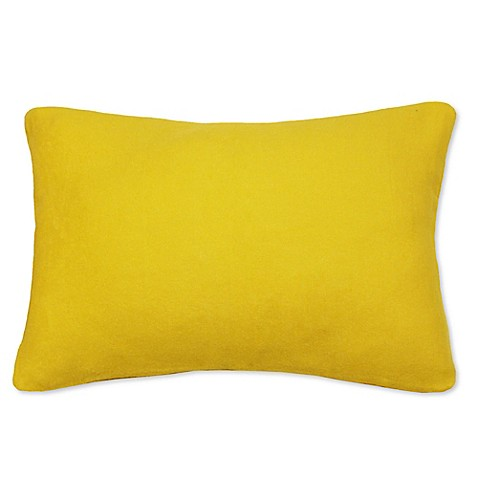 Yellow Decorative Pillows For Bed : Buy PUR Cashmere Oblong Throw Pillow in Yellow from Bed Bath & Beyond