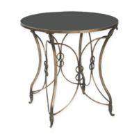 Sterling Industries Bordeux Metal Side Table in Black