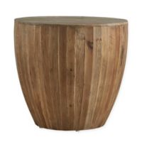 Verona Home Tallison Wood Drum Accent Table
