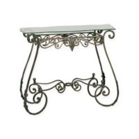 Leaf Console Table in Bronze
