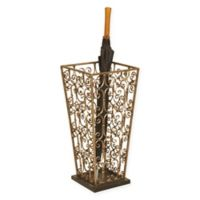 Scrollwork Umbrella Stand in Copper
