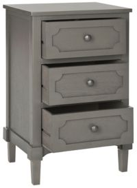 The Safavieh Rosaleen Side Chest in Grey