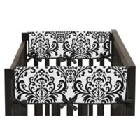 Sweet Jojo Designs Short Crib Rail Guard Covers in Black/White